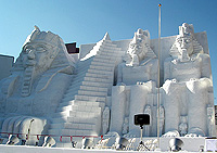Sapporo snow festival - relics of Egypt snow sculpture