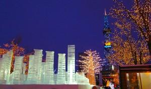 Sapporo Snow Festival, Yuki Matsuri, at night