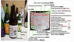 How to read a sake label and choose a sake you like.