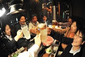 Kana! toast while enjoying Japanese sake