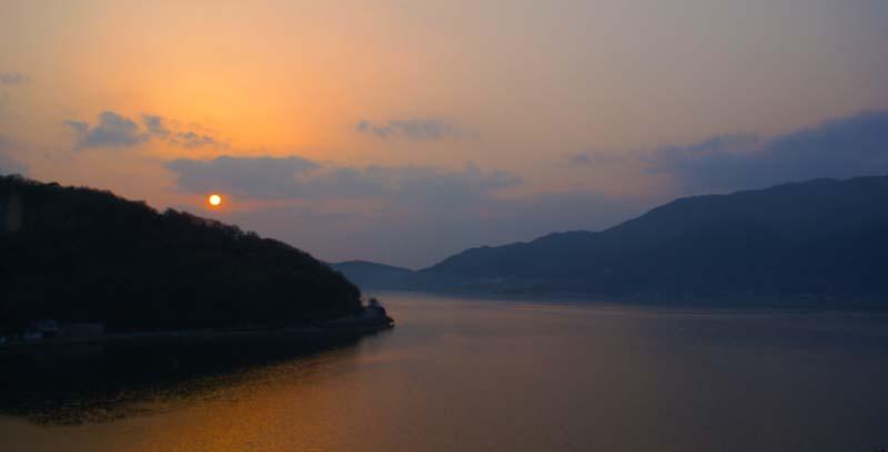 Japan's Seto Islands at sunset
