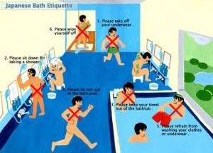 Japanese hot springs, onset, etiquette
