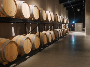 Japanese sake in aging barrels - Niigata-ken