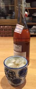 Homemade Umeshu, ready to be enjoyed