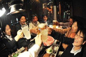 Kana! toast while enjoying Japanese sake
