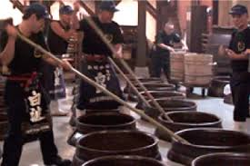 The crafting process for Japanese Sake