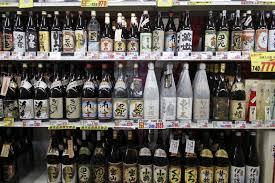 Shochu- Large bottle line-up of Japanese Sake
