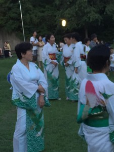 Bon Odori Dancers in Summer Yukata