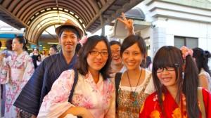 Biwako Hanabi Fireworks Festival Goers in Summer Yukata